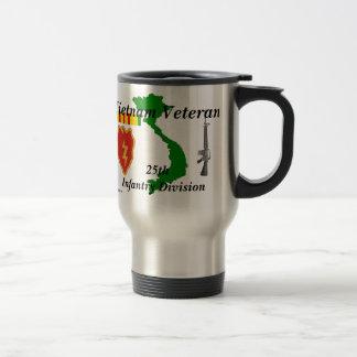 25th Inf Div Vietnam Vet tm/1 15 Oz Stainless Steel Travel Mug