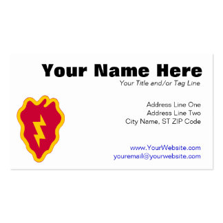 25th Infantry Division Business Card