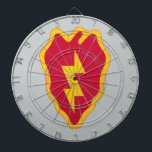 "25th Infantry Division Dart Board<br><div class=""desc"">25th Infantry Division - Tropic Lightning - Electric Strawberry</div>"