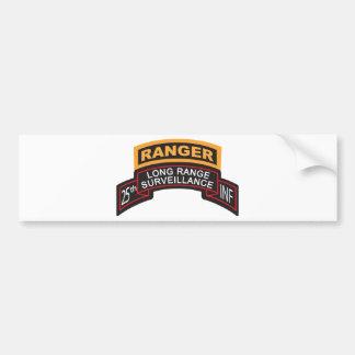 25th Infantry Division LRS Scroll, Ranger Tab Bumper Sticker