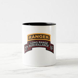 25th Infantry Division LRS Scroll, Ranger Tab Two-Tone Coffee Mug