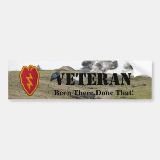 25th infantry division patch vets bumper sticker