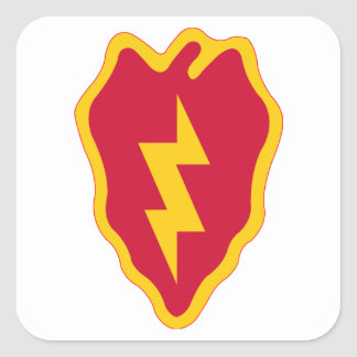 25th Infantry Division Square Sticker