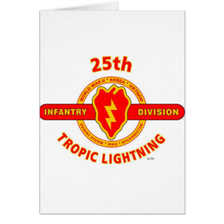 """25TH INFANTRY  DIVISION  """"TROPIC LIGHTNING"""" CARD"""