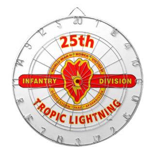 "25TH INFANTRY  DIVISION  ""TROPIC LIGHTNING"" DARTBOARD"