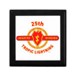 "25TH INFANTRY  DIVISION  ""TROPIC LIGHTNING"" TRINKET BOXES"