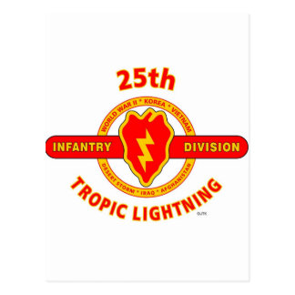 "25TH INFANTRY  DIVISION  ""TROPIC LIGHTNING"" POSTCARD"
