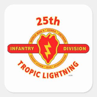 "25TH INFANTRY  DIVISION  ""TROPIC LIGHTNING"" SQUARE STICKER"