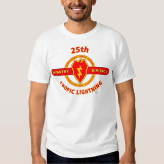 """25TH INFANTRY  DIVISION  """"TROPIC LIGHTNING"""" TEE SHIRT"""