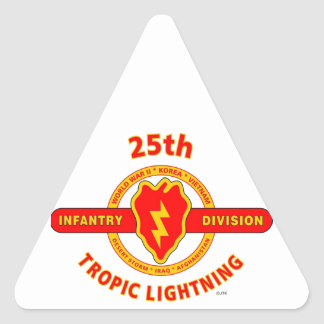 """25TH INFANTRY  DIVISION  """"TROPIC LIGHTNING"""" TRIANGLE STICKER"""