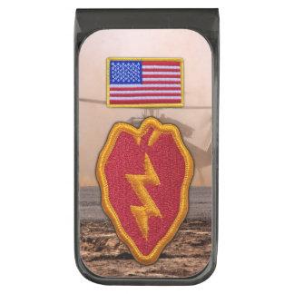 25th infantry division veterans vets patch gunmetal finish money clip