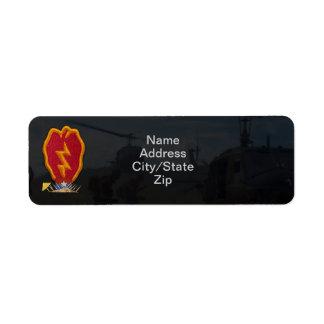 25th infantry division vietnam nam war patch custom return address label