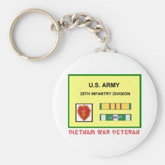25TH INFANTRY DIVISION VIETNAM WAR VET KEYCHAIN