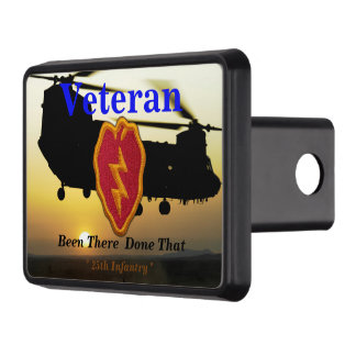 25th infantry vietnam nam veterans vets patch trailer hitch cover
