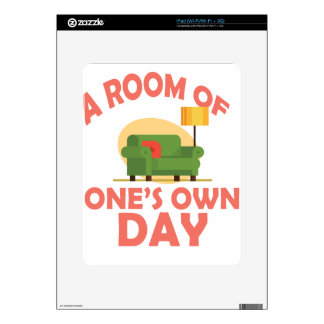 25th January - A Room Of One's Own Day Decal For iPad