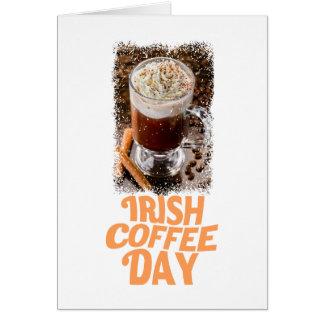 25th January - Irish Coffee Day Card