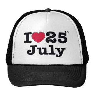 25th  july my day of birthday hats