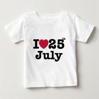 25th  july my day of birthday shirt