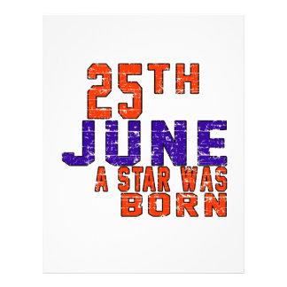 25th June a star was born Letterhead Design