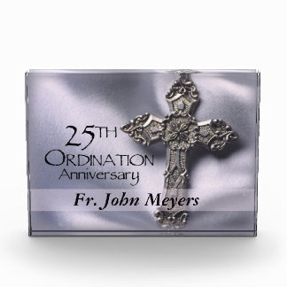 25th Ordination Anniversary Cross Host Acrylic Award