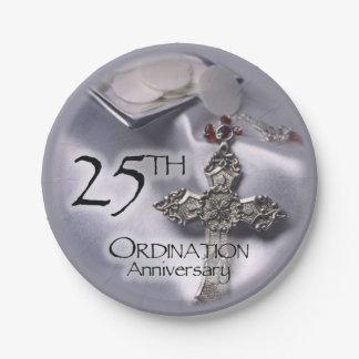 Twenty Fifth Anniversary Plates Zazzle