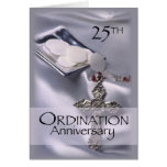25th Ordination Anniversary Cross Host, Priest Stationery Note Card