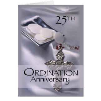 25th Ordination Anniversary Cross Host, Priest Card