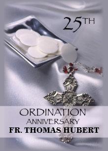 Ordination anniversary invitations announcements zazzle 25th ordination anniversary invitation cross host stopboris Images