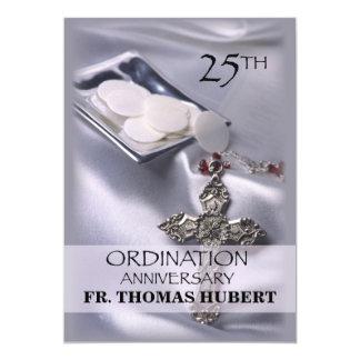 25th Ordination Anniversary Invitation Cross Host