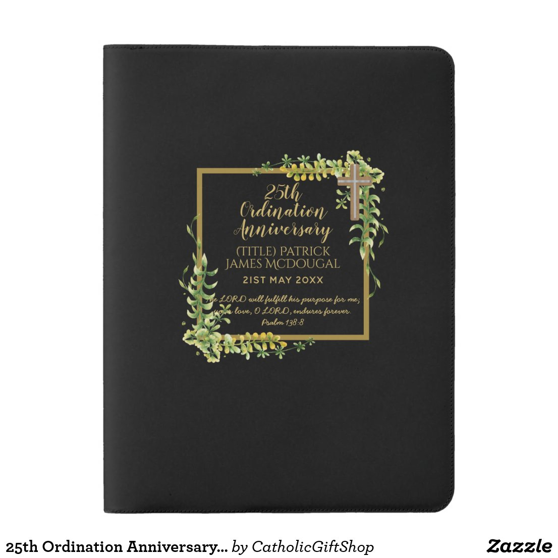 25th Ordination Anniversary Priest Gift Customized Extra Large Moleskine Notebook