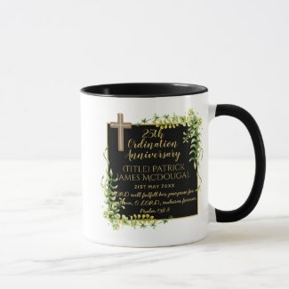25th Ordination Anniversary Priest Gift Customized Mug