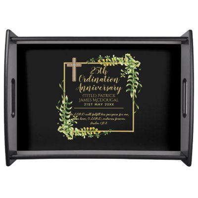 25th Ordination Anniversary Priest Gift Customized Serving Tray