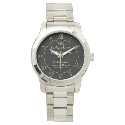 25th Ordination Anniversary Priest Gift Customized Watch