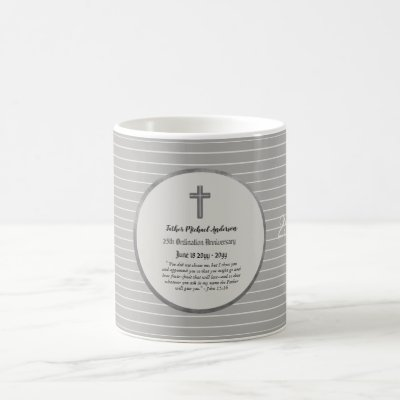 25th Ordination Anniversary SILVER - ANY CLERGY Coffee Mug