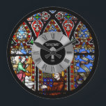"""25th Ordination Anniversary Stained Glass Custom Large Clock<br><div class=""""desc"""">This item is one of many featured in a collection of gifts for members of the Clergy including Priest, Nun, Pastor, Deacon, Bishop and more. They are for a variety of occasions include newly ordained, ordination anniversary, thank you, birthday, Christmas and more. Ma____________________________________________________________________________ 1. For assistance, custom design or matching...</div>"""