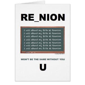 25th Reunion Card