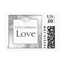 25th Rose Garden Wedding Anniversary Stamp