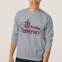 25th Silver and Burgundy Anniversary Sweatshirt