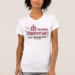 25th Silver and Burgundy Anniversary T Shirt