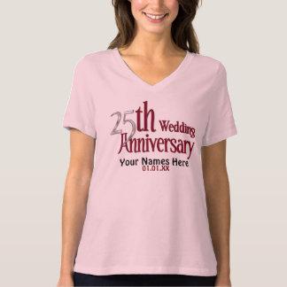 25th Silver and Burgundy Anniversary Tee Shirt