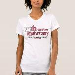25th Silver and Burgundy Anniversary Tshirts