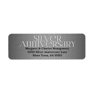 25th Silver Anniversary Avery Label