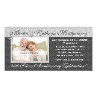 25th Silver Anniversary Invitation Photo Card