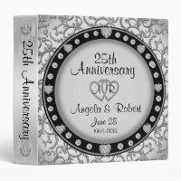 25th Silver Anniversary Monogram Binder