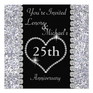 25th SILVER Anniversary Party Invitation