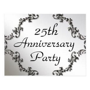 Silver anniversary postcards zazzle 25th silver anniversary party invitation postcards stopboris Gallery