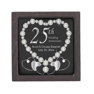 25th Silver Anniversary Personalize Gift Box