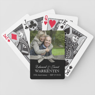 25th Silver Anniversary Photo Keepsake Bicycle Playing Cards