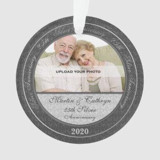 25th Silver Anniversary   Photo Ornament