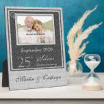 """25th Silver Anniversary Photo Plaque<br><div class=""""desc"""">Give this customized 25th Anniversary Plaque as a gift for the couple to cherish the memories of celebrating 25-years of marriage.</div>"""